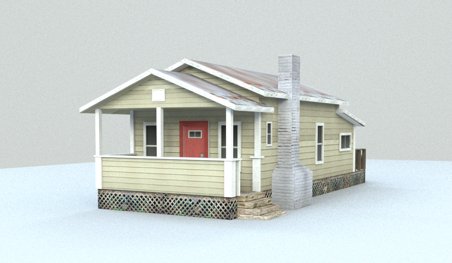 3d house made in Maya